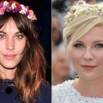 Flores nos Cabelos Moda Verão 2014