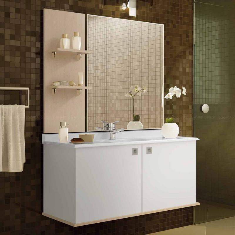 Gabinete para Banheiro com Espelho Modelos, Dicas -> Armario De Banheiro Simples Com Espelho