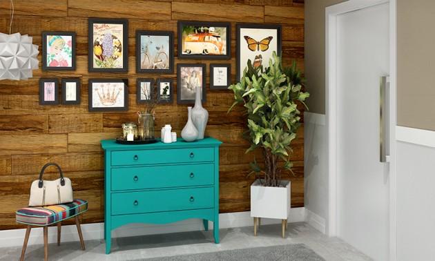 moveis coloridos na decor