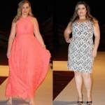 Vestidos Sociais Plus Size Moda 2014