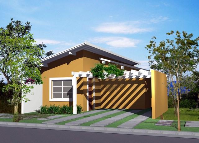 Fachadas de casas pequenas e bonitas for Modelos de casas minimalistas pequenas