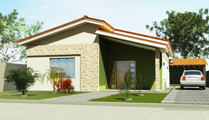 Fachadas de casas pequenas e bonitas for Fachadas de viviendas pequenas