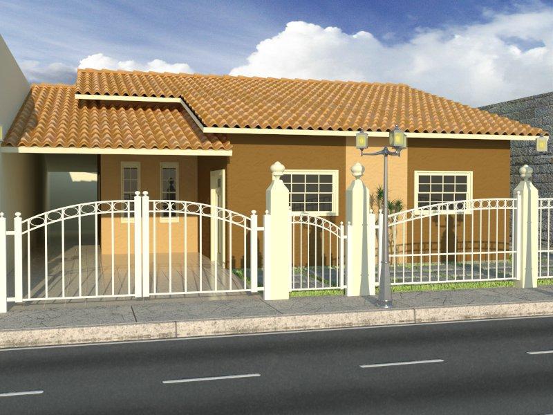 Fachadas de casas pequenas e bonitas for Ver frentes de casas modernas