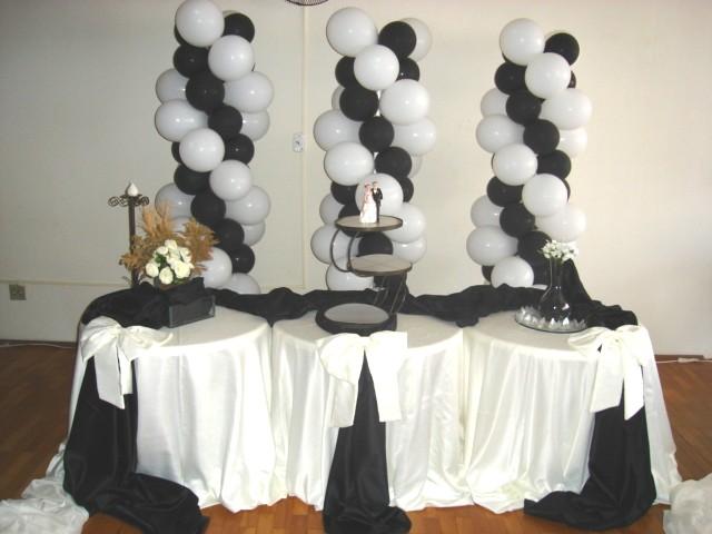 decoracao-de-festa-preto-e-branco-5 # decoracao festa preto e branco