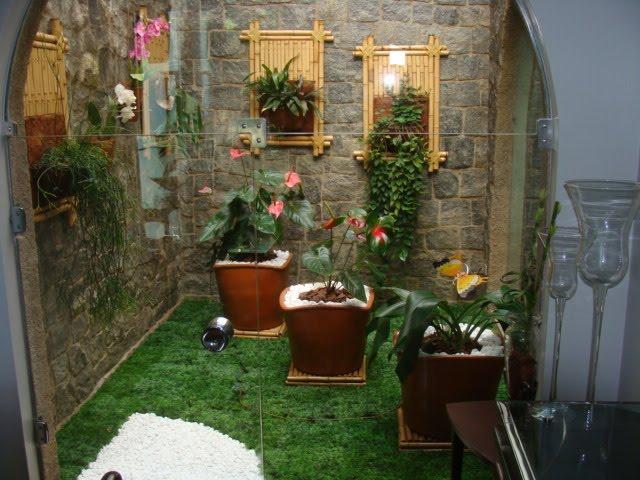 ideias para jardim simples:Jardim De Inverno