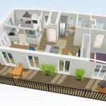 Modelos de Plantas de Casas Modernas 2 e 3 Quartos