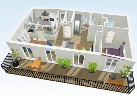 Modelos de plantas de casas modernas 2 e 3 quartos for Plantas de casas tipo 3 modernas