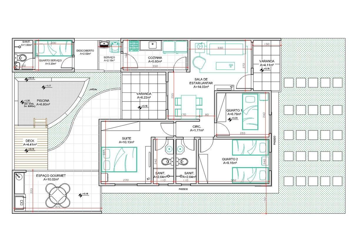 Modelos de plantas de casas modernas 2 e 3 quartos - Plantas para casas ...