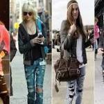 Calças Jeans Rasgadas e Desfiadas