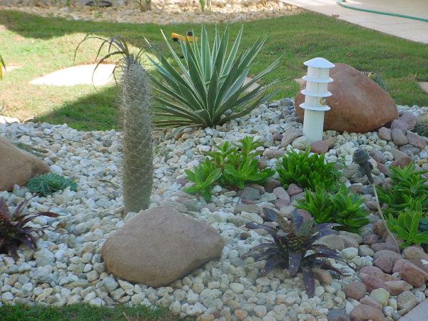 fotos jardim simples:Modelos de Jardins Residenciais com Pedras na Decoração