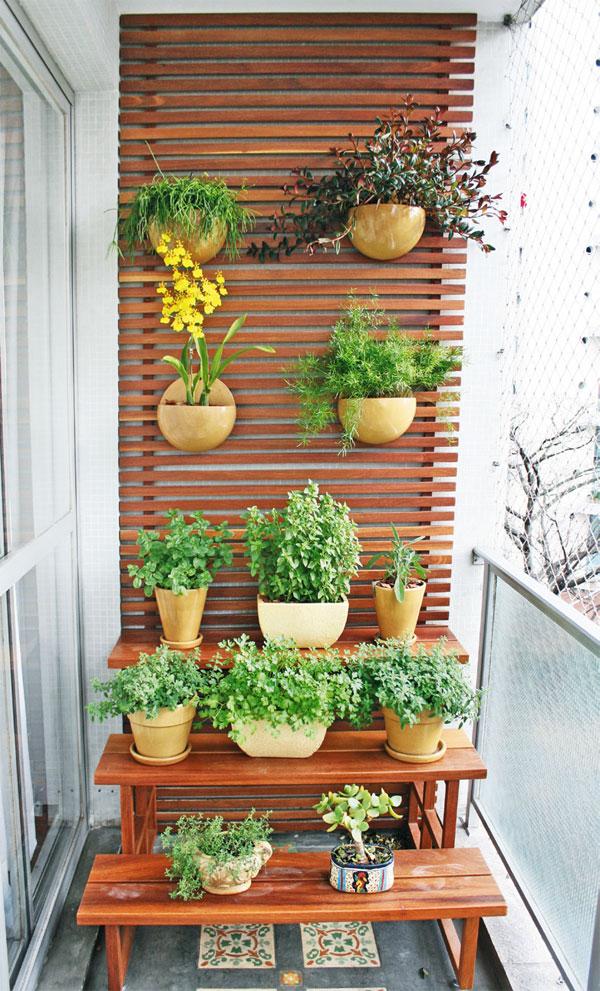 jardim vertical sacada:Decoracao Para Varanda