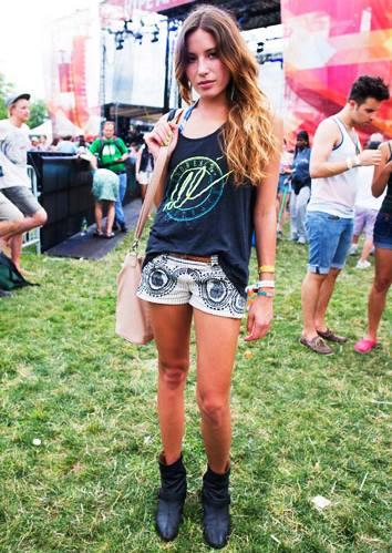 Look para Festival de Rock no Verão