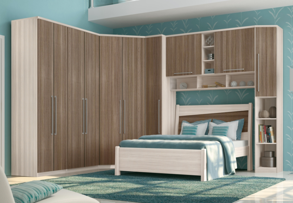 Guarda roupa com cama de casal 300x200 guarda roupa com for Modelos de cama