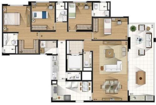 Plantas de casas com 4 quartos modelos gr tis - Casas on line ...