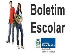 SEEDUC RJ Boletim Escolar