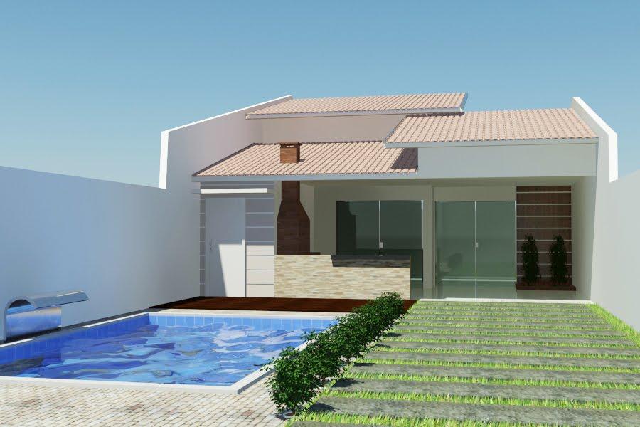 Telhados de casas simples e modernas fotos modelos for Modelos casas modernas
