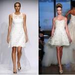 Vestidos de Noiva Curtos 2014