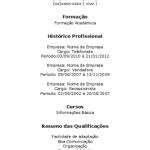 Modelos de Currículos 2014 Prontos: imprimir