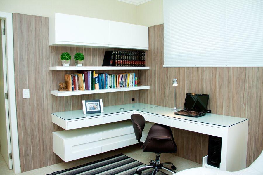 Decoraç u00e3o de Escritórios Residenciais Pequenos # Decoração De Escritório Residencial