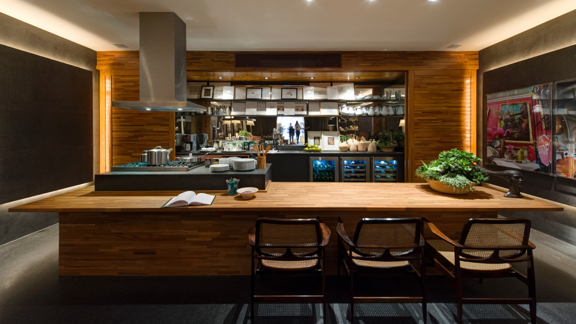 modelos de bancadas de madeira na cozinha 8 #A76924 1920x1080 Bancada Banheiro Teca