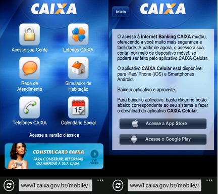 Aplicativos Banco Caixa