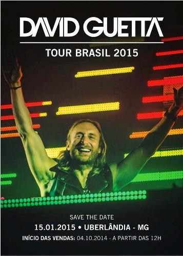 David Guetta em Uberlândia 2015: ingressos, data