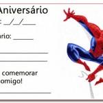 Convites de Aniversário masculino