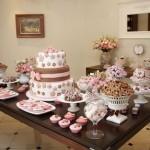 Mesa para chá de casamento