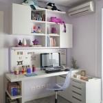 Escritório feminino no quarto