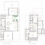 planta de casa sobrados com 3 quartos