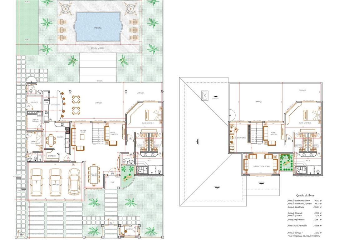 Projetos de sobrados com 2 quartos - Decoração e Projetos