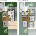 projetos sobrados 3 quartos