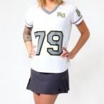 camiseta de futebol americano feminina