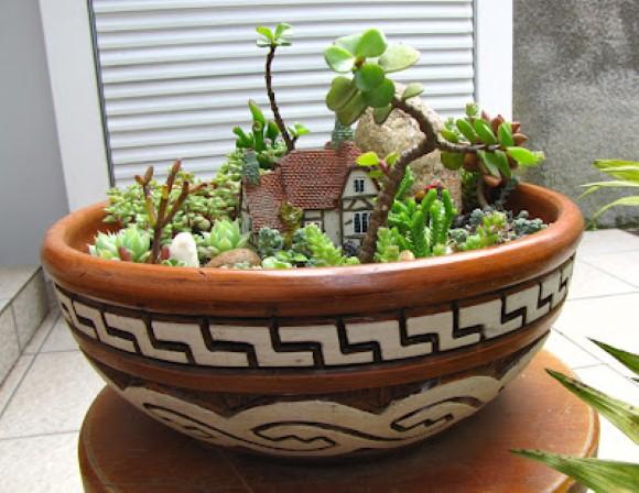 mini jardim de cactus:Separamos 12 modelos de Mini Jardins para dentro de casa para que