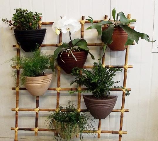 plantas flores jardins decoracao:Pin Vasos Naturais Para Decoração Segue Uma Ideia Super Interessante