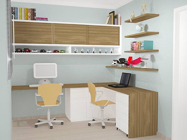 Decora o de escrit rios em casa fotos modelos - Modelos de escritorios ...