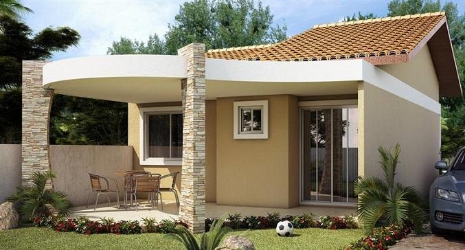 Fachadas de casas simples e modernas fotos modelos for Modelos de casas pequenas y bonitas