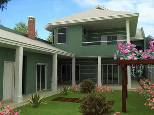 Como escolher a cor da fachada de casa dicas modelos - Fachadas de casas pintadas ...