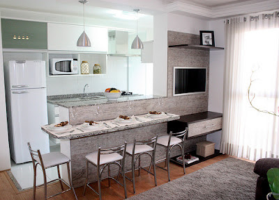 Cozinha conjugada sala como fazer a decora o for Sala de estar 10m2
