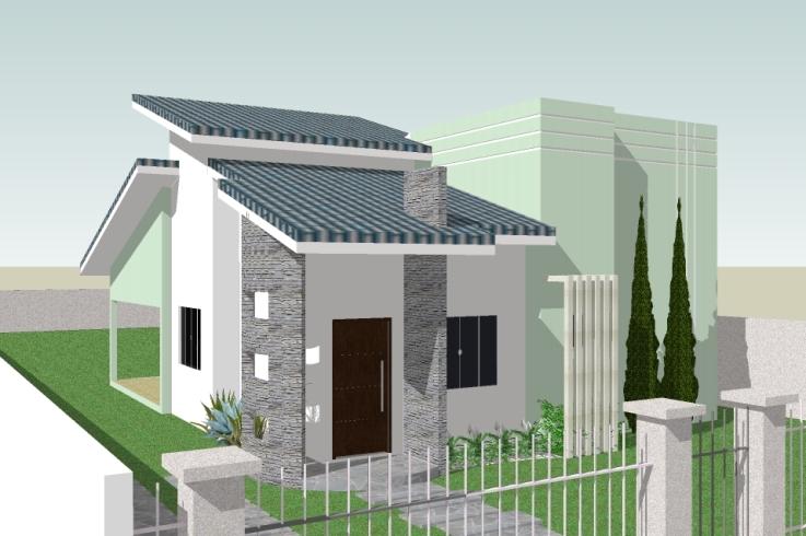 fachada-de-casa-pequena-bonita-verde