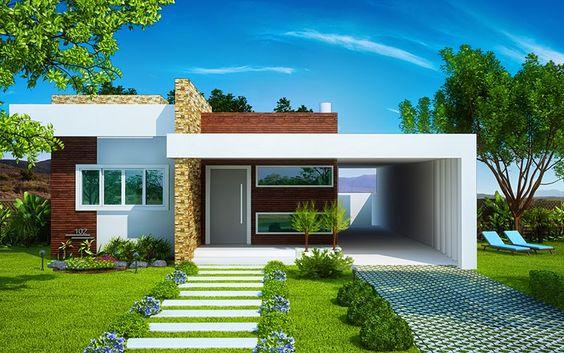 fachada-de-casa-pequena-com-garagem-jardim