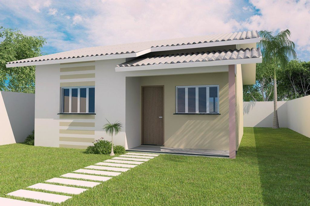 88 fachadas de casas pequenas e modernas for Modelo de casa x dentro
