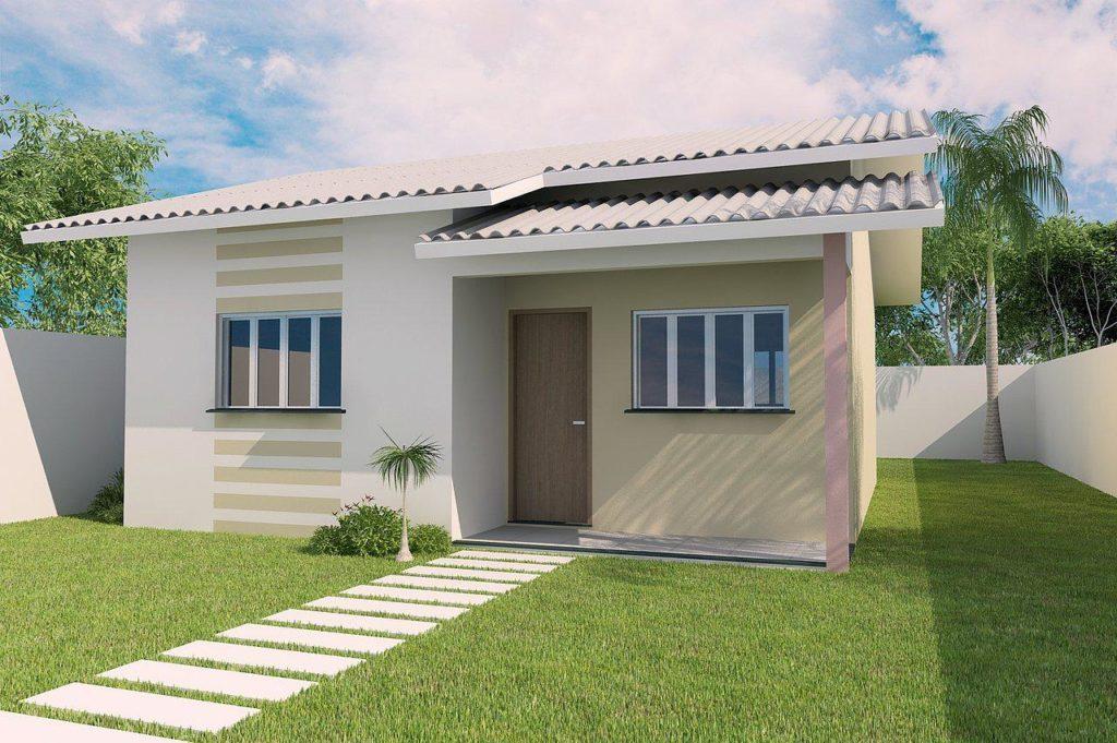 88 fachadas de casas pequenas e modernas for Modelos jardines para casas pequenas