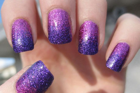 Esmaltes com glitter