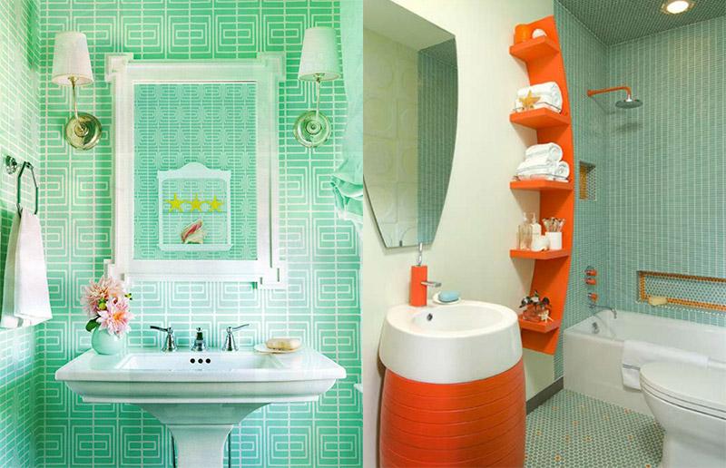 banheiros coloridos como decorar