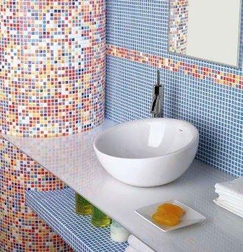 banheiros coloridos cubas