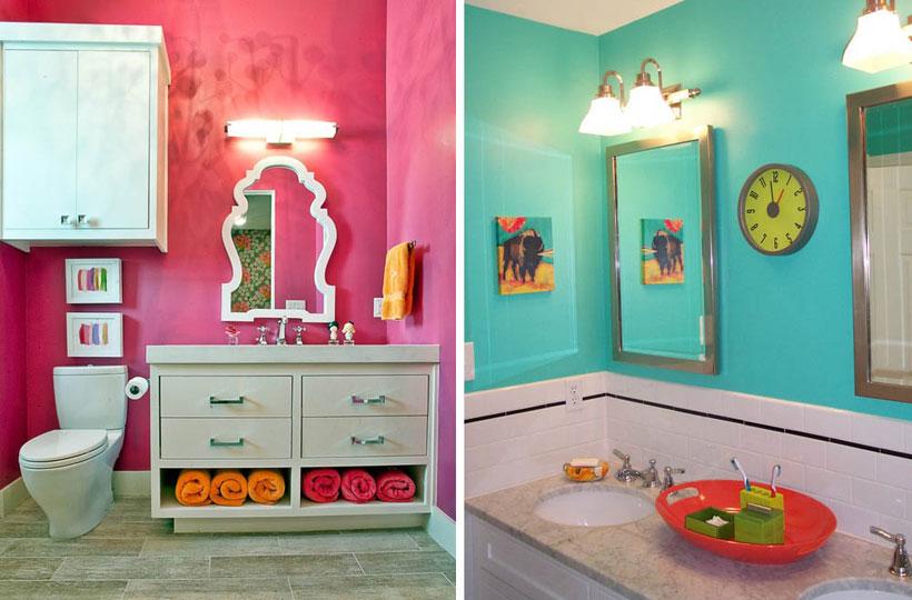 banheiros coloridos fotos