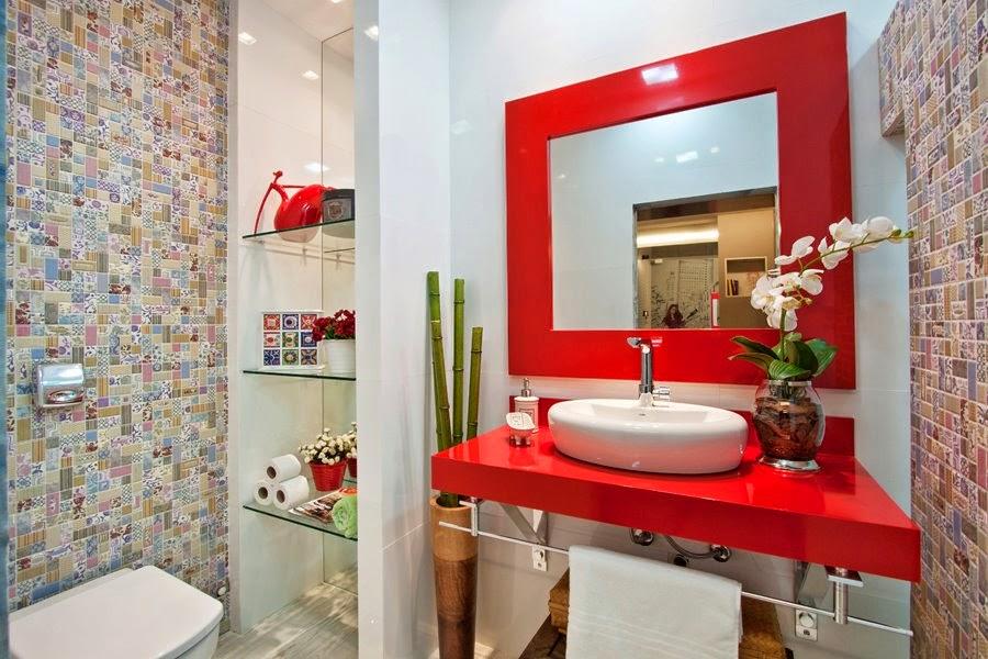 banheiros coloridos lindos