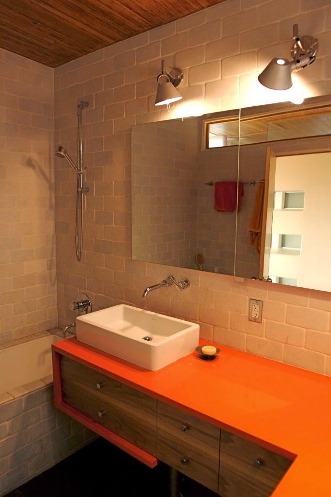 banheiros coloridos modernos