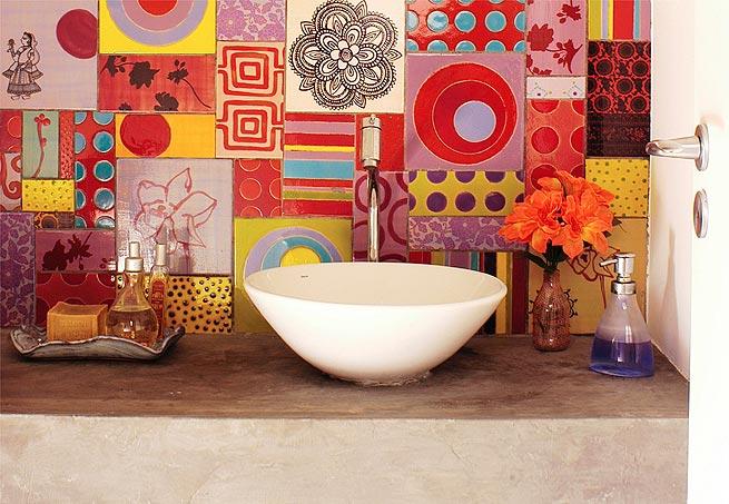 banheiros coloridos perfeitos